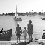 9. Vy från nya hamnen 1952