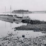 18. Lotsbryggan efter stormen 1954