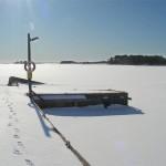 7m. Lotsbryggan i vinterskrud