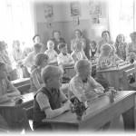 22. Fån skolan examensdagen 1951