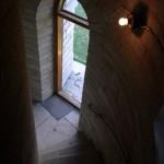 Fyrdörren som var öppen för besökare.