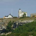 Fyrplats på klippan mot väster