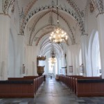 Stege kyrkas vackra kyrkorum.