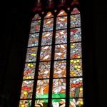 Färgsprakande fönster från Visby domkyrka